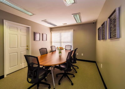 Conference room with table and chairs at The Meadows in Emmaus, PA