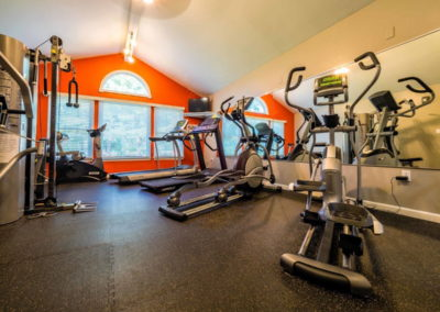 Fully equipped fitness center at Emmaus, PA apartments