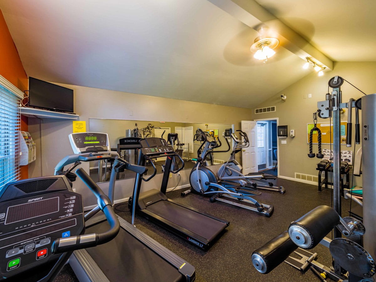 Wonderful fitness amenities with quality equipment exclusively for The Meadows apartment residents