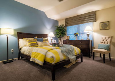 Furnished master bedroom in Emmaus, PA apartment