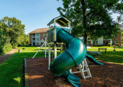 Playground with jungle gym at The Meadows apartment complex in Emmaus, PA